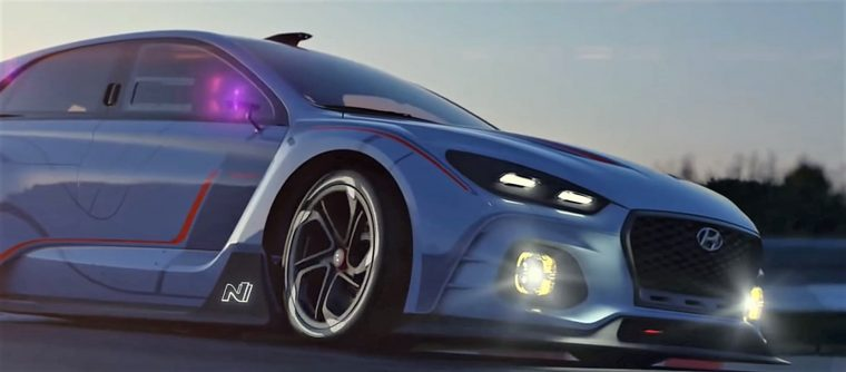 Hyundai i30 N hatchback car reveal footage