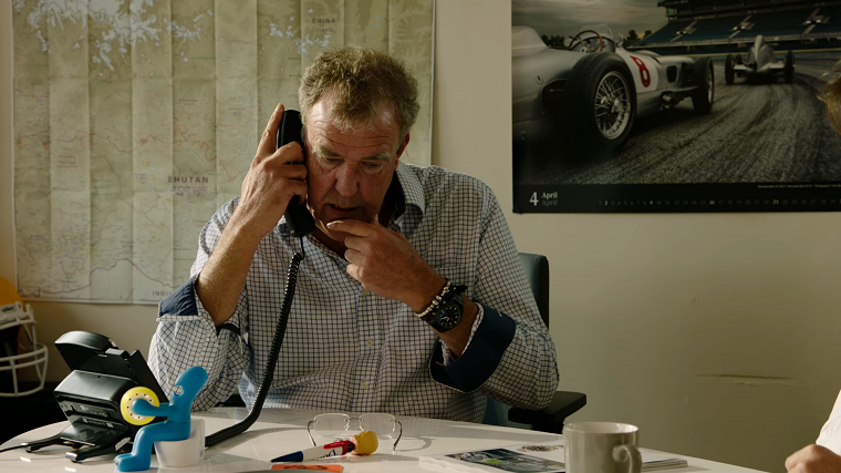 Jeremy Clarkson on the phone