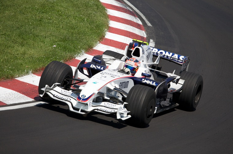 Robert Kubica driving for BMW Williams in 2008
