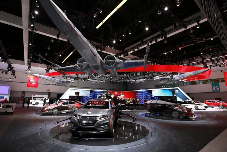Nissans Booth At The LA Auto Show Is A Star Wars Paradise The - Car show booth