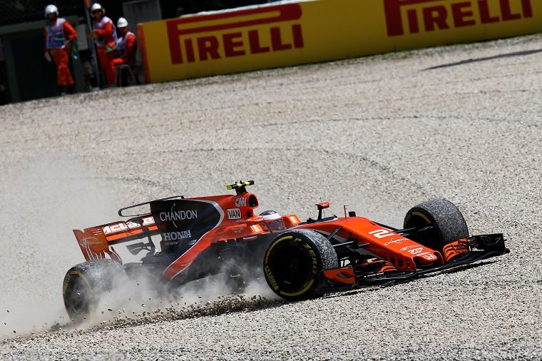 McLaren Honda in the gravel