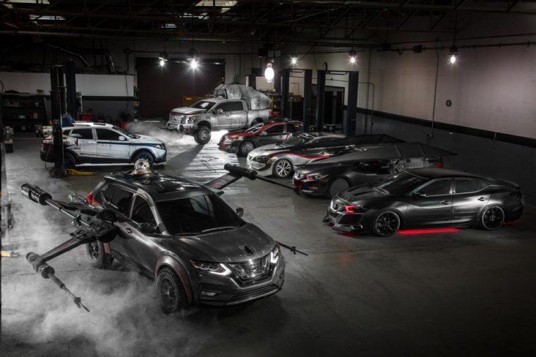 Star Wars Nissan show vehicles shine at LA