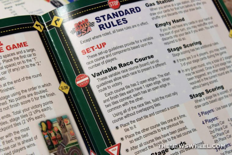 Road Rally USA review Mayfair board game car automotive racing motorsports tabletop directions instructions