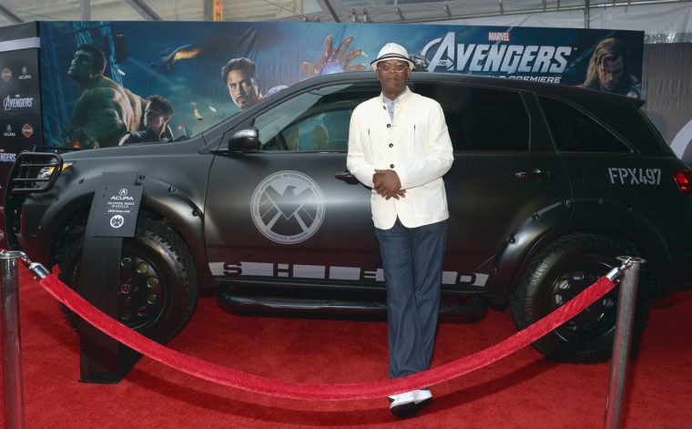 The Avengers Marvel movie car automaker sponsor brand Acura MDX
