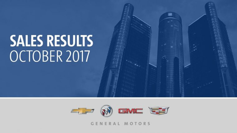 General Motors October 2017 sales
