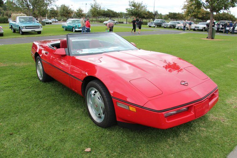 1988 Chevrolet C4 Corvette Convertible red