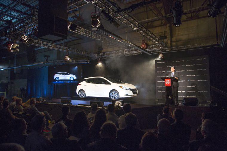 2018 Nissan LEAF Job 1 Smyrna Vehicle Assembly Plant