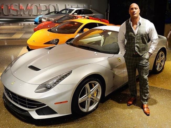 Rock Dwayne Johnson Instagram cars celebrity pictures driving ballers exotic vehicles