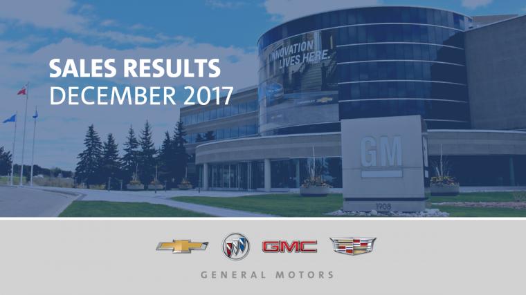 General Motors Sales December 2017