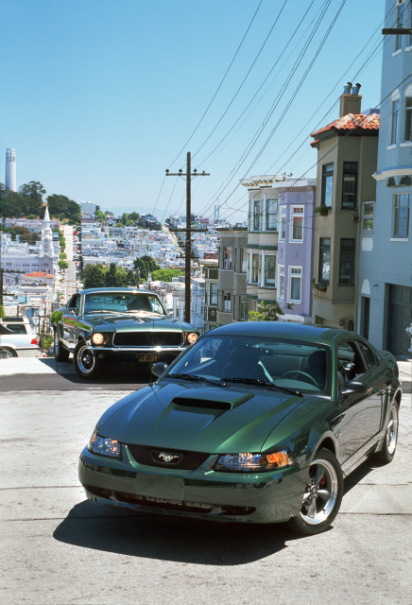 2001 Ford Mustang Bullitt and 1968 Ford Mustang GT