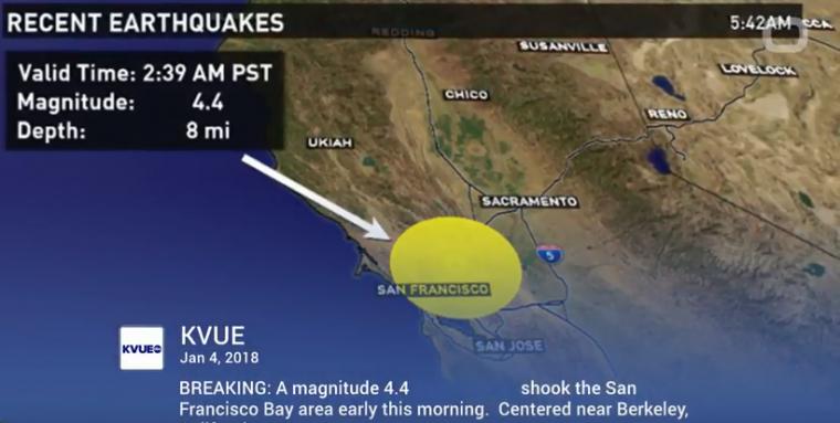 northern CA earthquake
