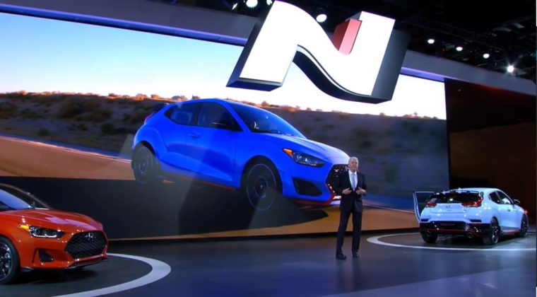 Hyundai Veloster N reveal debut 2018 North American International Auto Show N performance brand car specs