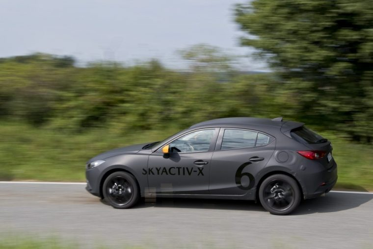 Mazda SKYACTIV-X test vehicle