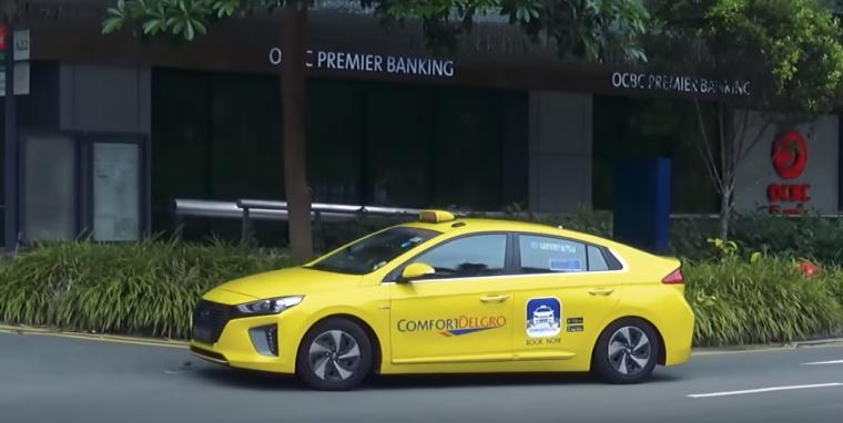 singapore hybrid taxi