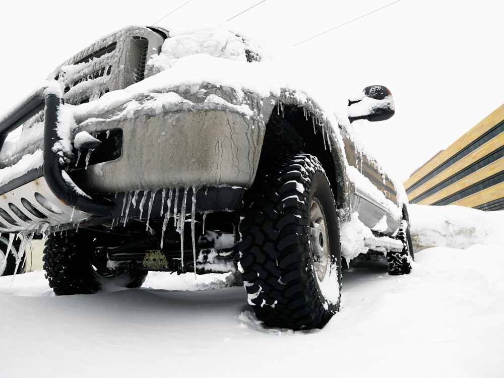 Road Salt Covered Car