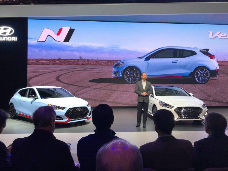 2018 Hyundai Sonata Hybrid Plug-In Sedan reveal debut at Chicago Auto Show Press Conference
