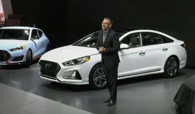 2018 Hyundai Sonata Hybrid Plug-In Sedan reveal debut at Chicago Auto Show Press Conference details