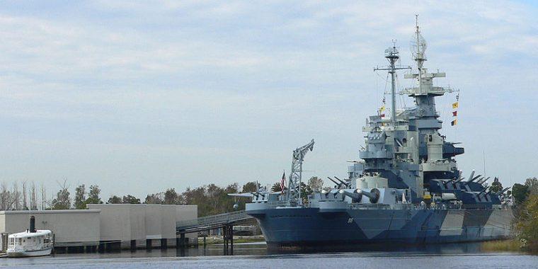 USS North Carolina in Wilmington