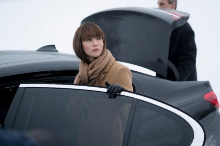 BMW 7 Series in Red Sparrow movie Jennifer Lawrence spy film black car (6)