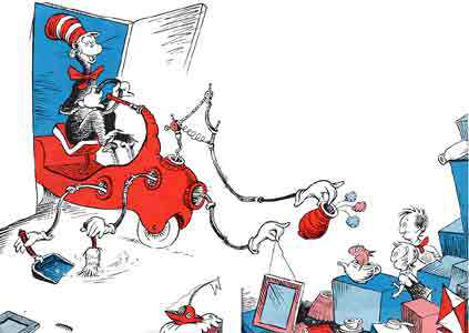 the various vehicular contraptions of the cat in the hat the news