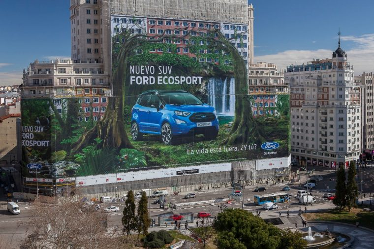 Ford EcoSport billboard Madrid Spain