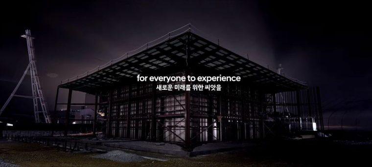 Hyundai Pavilion PyeongChang Winter Olympics automotive sponsor black tent