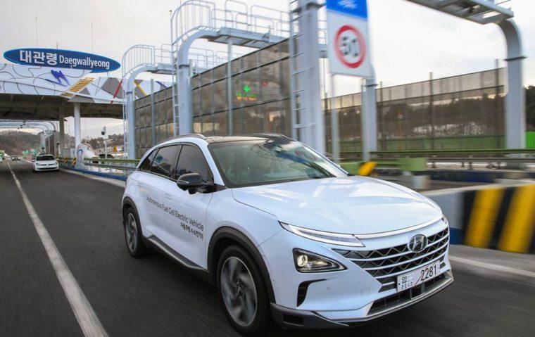 NEXO Autonomous Fuel Cell Electric Vehicle test Korea SUV