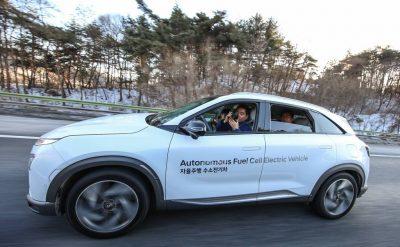 NEXO Autonomous Fuel Cell Electric Vehicle test Korea self-driving