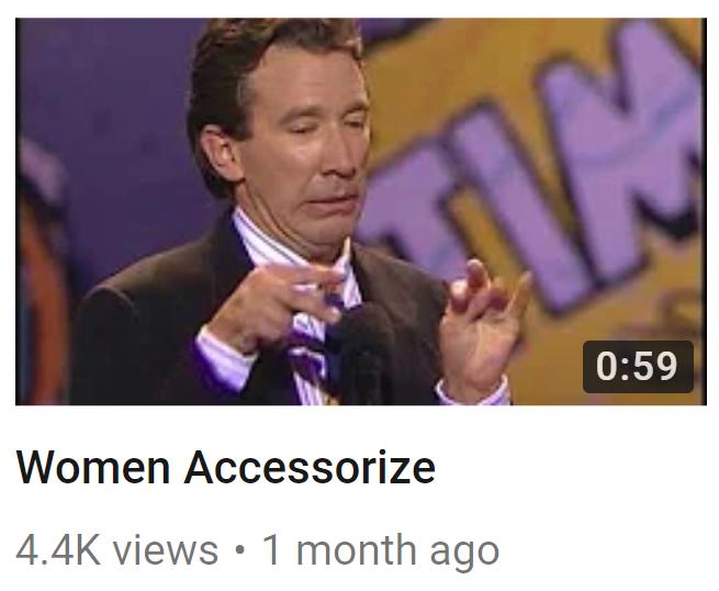 Tim Allen Women Accesorize