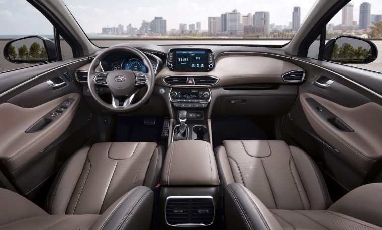 2019 Hyundai Santa Fe SUV changes redesign new different interior