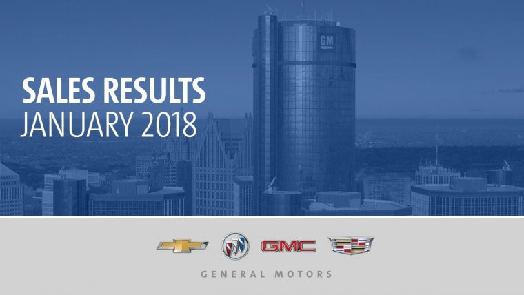 General Motors January 2018 sales