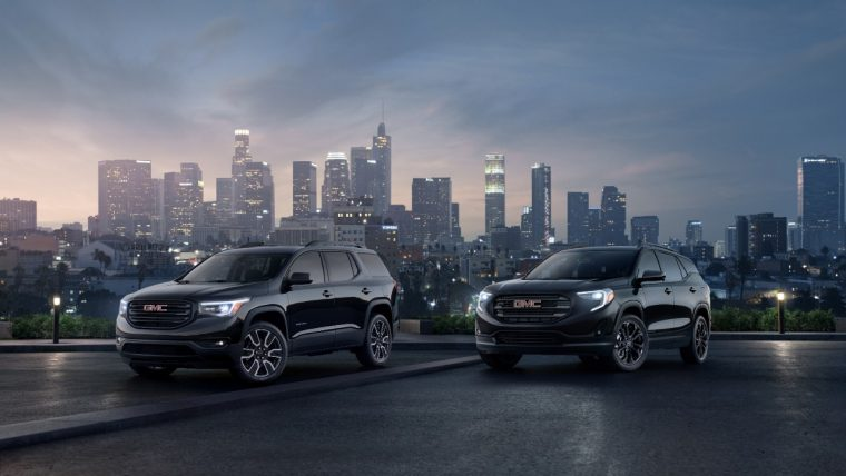 GMC Terrain and Acadia Black Editions