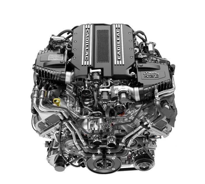 Cadillac twin turbo 4.2-liter V8 engine