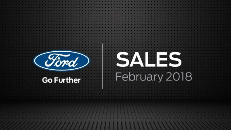 Ford Motor Company February 2018 Sales