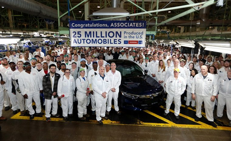 Honda associates at Marysville Plant