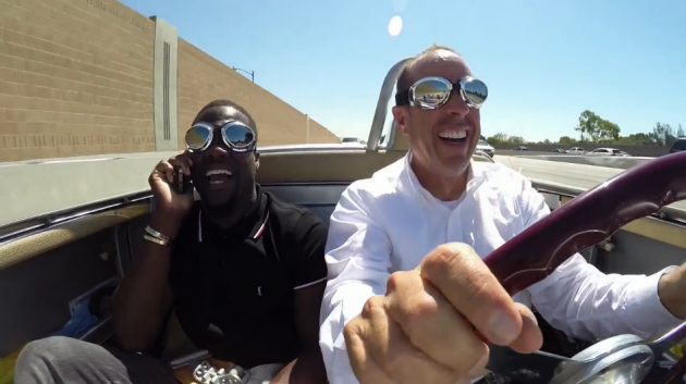 Jerry Seinfeld and Kevin Hart Comedians in Cars Getting Coffee
