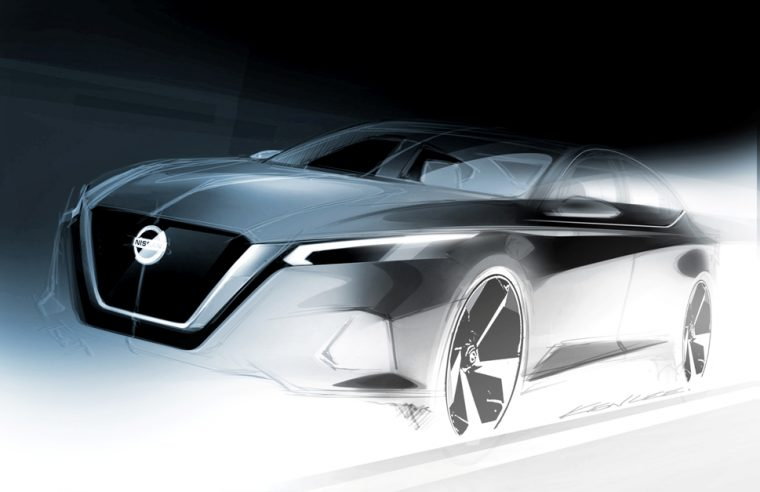 All-new 2019 Nissan Altima Exterior Design Sketch