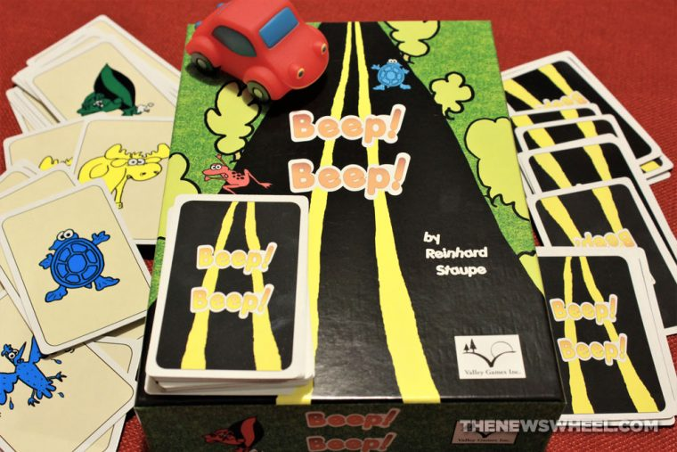 Beep Beep Valley Games Inc review matching speed card game red car automotive children (1)