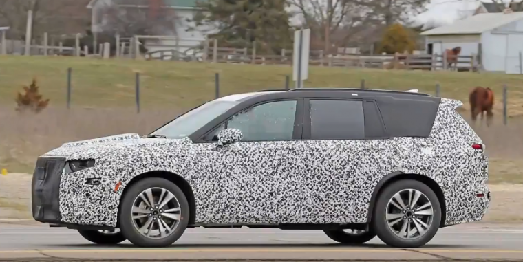 new spy shots of the 2020 cadillac xt6 the news wheel. Black Bedroom Furniture Sets. Home Design Ideas
