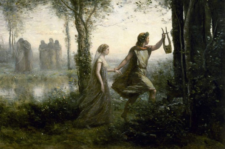 Orpheus Leading Eurydice from the Underworld by Jean-Baptiste-Camille