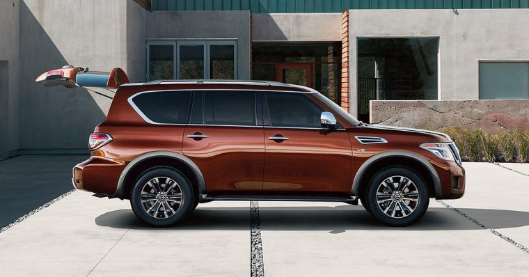 The 2018 Nissan Armada Is Available At Three Trim Levels U2014 SV, SL, And  Platinum. Each Trim Is Powered By A 5.6 Liter DOHC 32 Valve V8 Engine  Paired To A ...