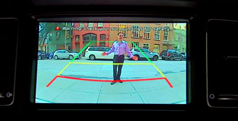 backup camera pedestrian safety rearview camera