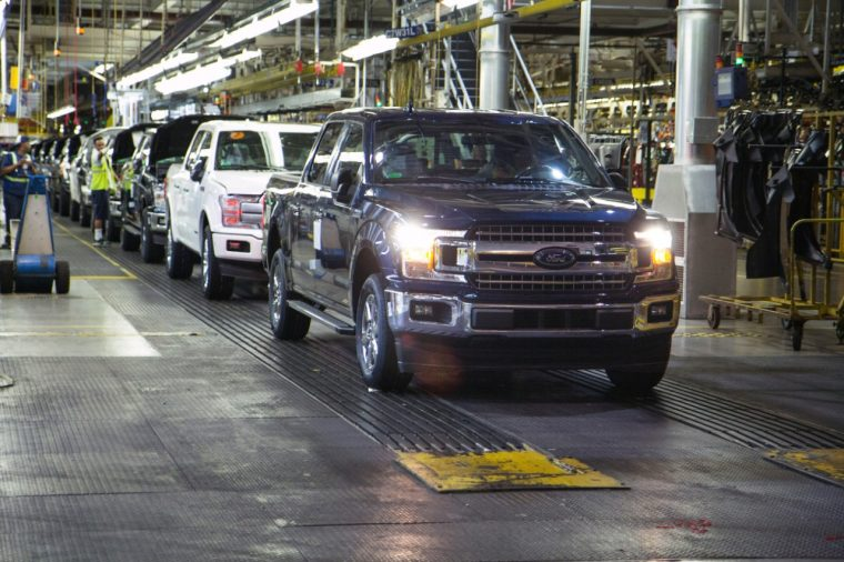 2018 Ford F-150 rolls off the line at Dearborn Truck Plant after brief shutdown