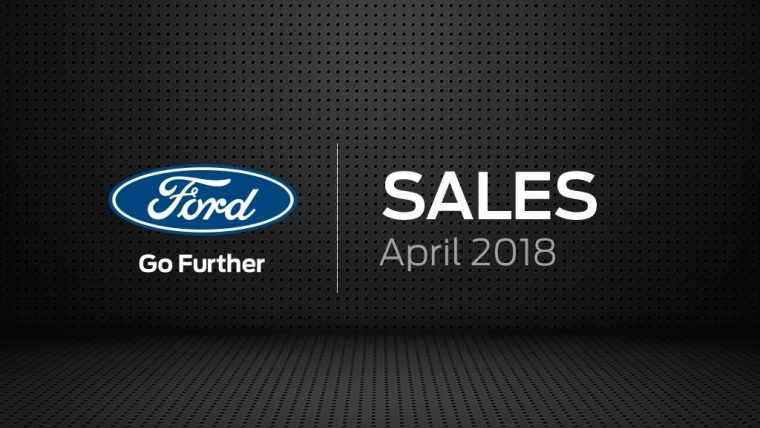 Ford Sales April 2018 graphic