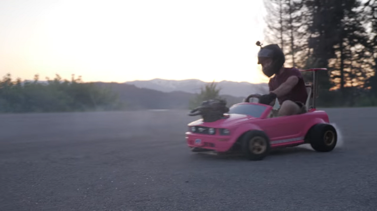 Honda Dirt Bike Engine in Barbie Car