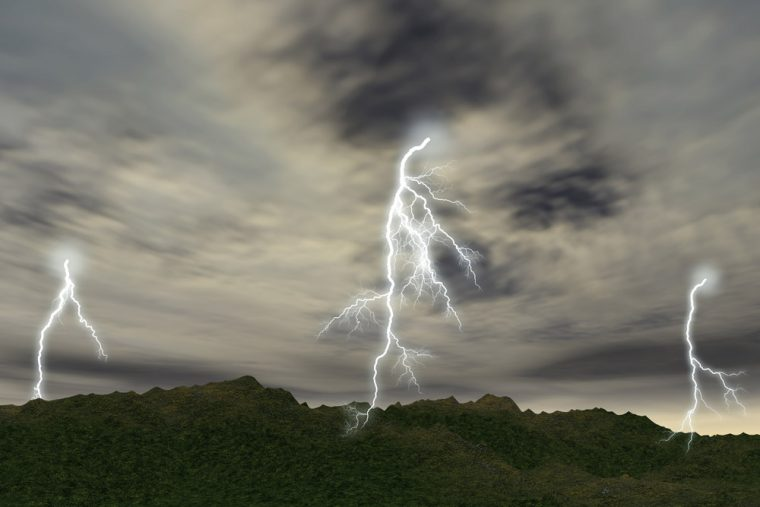 Lightning Thunder rain storm clouds