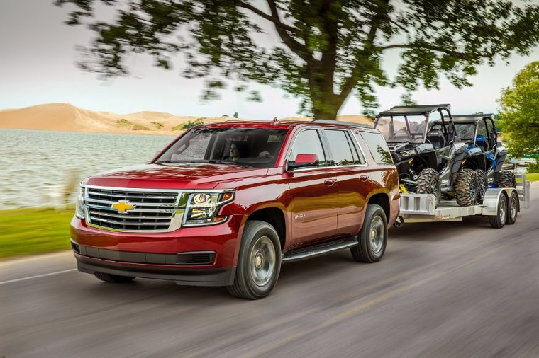 2018 Chevrolet Tahoe exterior towing full size SUV