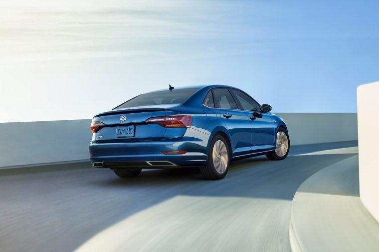 2019 Volkswagen Jetta SEL Premium in Silk Blue Metallic back