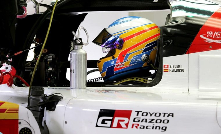 Alonso with Toyota Gazoo Racing