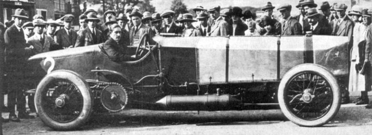 Count Zborowski With Chitty 1 at Brooklands